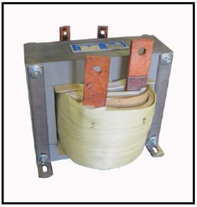 SINGLE PHASE HIGH CURRENT TRANSFORMER, 1.2 KVA, OUTPUT 3 VAC, 400 AMPS, P/N 19226