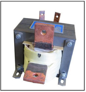 SINGLE PHASE HIGH CURRENT TRANSFORMER, 0.5 KVA, OUTPUT 1 VAC, 500 AMPS, P/N 19234