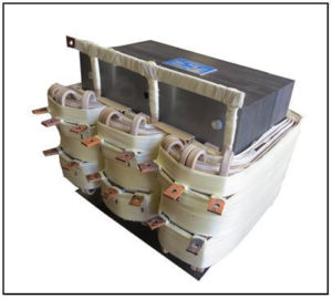 THREE PHASE BUCK TRANSFORMER, 30 KVA, INPUT 440 VAC, OUTPUT 176/220/264/330 VAC, P/N 19235