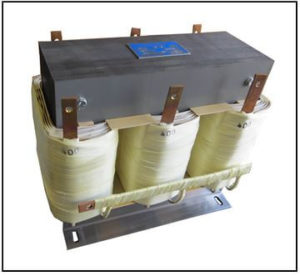 THREE PHASE BOOST TRANSFORMER, 11 KVA, INPUT 220 VAC, OUTPUT 400 VAC, P/N 19236