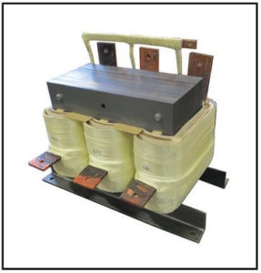 THREE PHASE BOOST TRANSFORMER, 240 KVA, INPUT 208 VAC, OUTPUT 220 VAC, P/N 19242