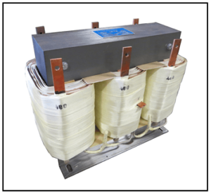 THREE PHASE BOOST TRANSFORMER, 50 KVA, INPUT 400 VAC, OUTPUT 480 VAC, P/N 19254