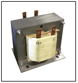 STEP UP TRANSFORMER, 1.5 KVA, PRIMARY 120 VAC, SECONDARY 230 VAC, P/N 19255N