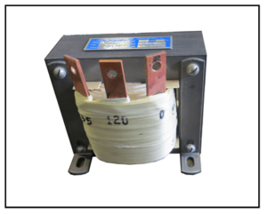 SINGLE PHASE BUCK TRANSFORMER, 1.2 KVA, INPUT 155 VAC, OUTPUT 120 VAC, P/N 19278