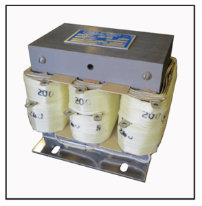 THREE PHASE BOOST TRANSFORMER, 2.1 KVA, INPUT 200 VAC, OUTPUT 240 VAC, P/N 19205N