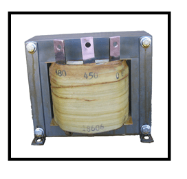 SINGLE PHASE BUCK TRANSFORMER, 10 KVA, INPUT 480 VAC, OUTPUT 450 VAC, P/N 18606N