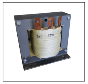 SINGLE PHASE BOOST TRANSFORMER, 4.8 KVA, INPUT 208 VAC, OUTPUT 240 VAC, P/N 19282N