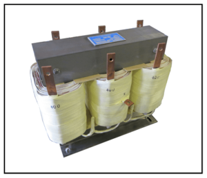 THREE PHASE BUCK TRANSFORMER, 28 KVA, INPUT 480 VAC, OUTPUT 400 VAC, P/N 19296