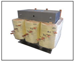 THREE PHASE BUCK BOOST TRANSFORMER, 18 KVA, INPUT 208 VAC, OUTPUT 176/264/360/480 VAC, P/N 19298