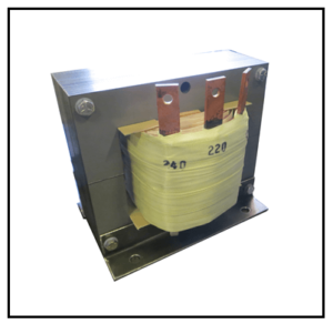 SINGLE PHASE BUCK TRANSFORMER, 10 KVA, INPUT 240 VAC, OUTPUT 220 VAC, P/N 19302N