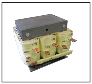 THREE PHASE BOOST TRANSFORMER, 15 KVA, INPUT 480 VAC, OUTPUT 400 VAC, P/N 19303N