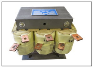 THREE PHASE BUCK BOOST TRANSFORMER, INPUT 484 VAC, OUTPUT 440 VAC, 8 KVA, P/N 19311A