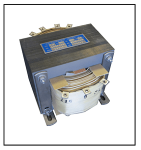 CENTER TAP TRANSFORMER, 0.6 KVA, PRIMARY 105/115/125 VAC, SECONDARY -115/0/115 VAC, P/N 19317