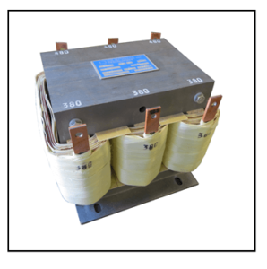 THREE PHASE BUCK BOOST TRANSFORMER, 10 KVA, INPUT 480 VAC, OUTPUT 380 VAC, P/N 19318