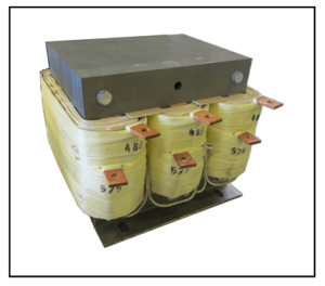 THREE PHASE BUCK BOOST TRANSFORMER, 12 KVA, INPUT 480 VAC, OUTPUT 575 VAC, P/N 19312N