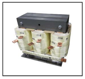THREE PHASE BOOST TRANSFORMER, 7.5 KVA, INPUT 208 VAC, OUTPUT 380 VAC, P/N 19336N