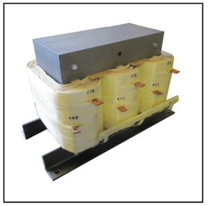 THREE PHASE BOOST TRANSFORMER, 35 KVA, INPUT 208 VAC, OUTPUT 460 VAC, P/N 19338N