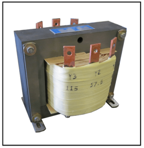 400 HZ CENTER TAP TRANSFORMER, 1.75 KVA, PRIMARY 57.5/115 VAC, SECONDARY 57.5/115 VAC, P/N 19339