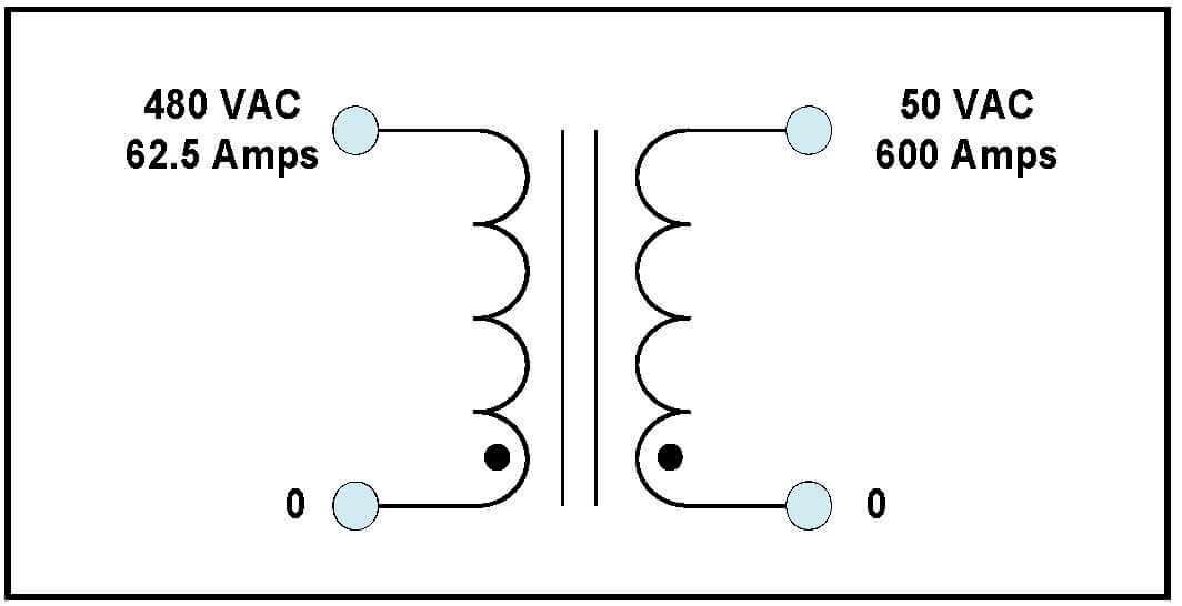 single phase high current transformer  30 kva  output 50