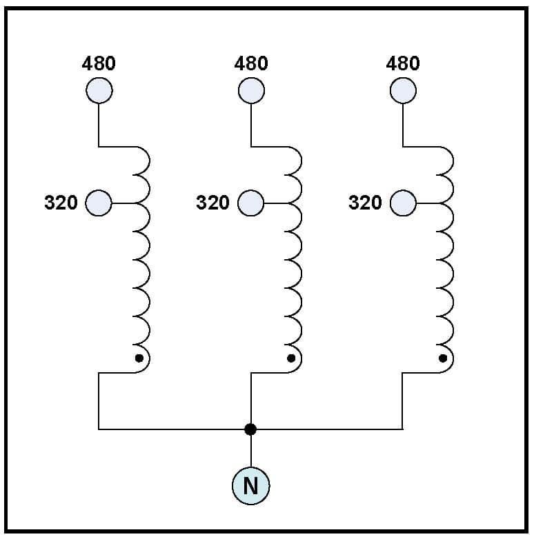 buck transformer  85 2 kva  input 480 vac  output 320 vac