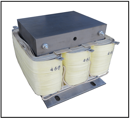 DELTA-DELTA TRANSFORMER, 1 KVA, PRIMARY 508 VAC, SECONDARY 460 VAC