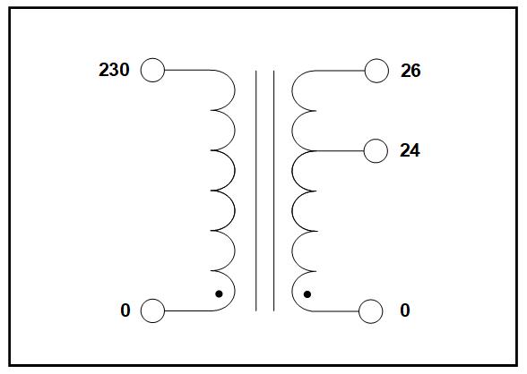 single phase multi tap transformer  65 va  p  n 19295  c