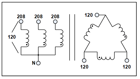 three phase isolation transformer  12 kva  p  n 19310n3